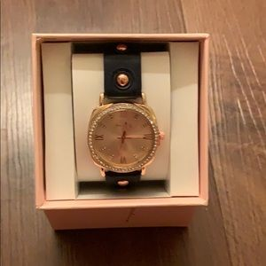 NIB Black and rose gold watch